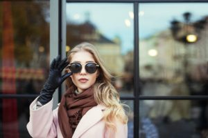 Lady glasses second look winter fall